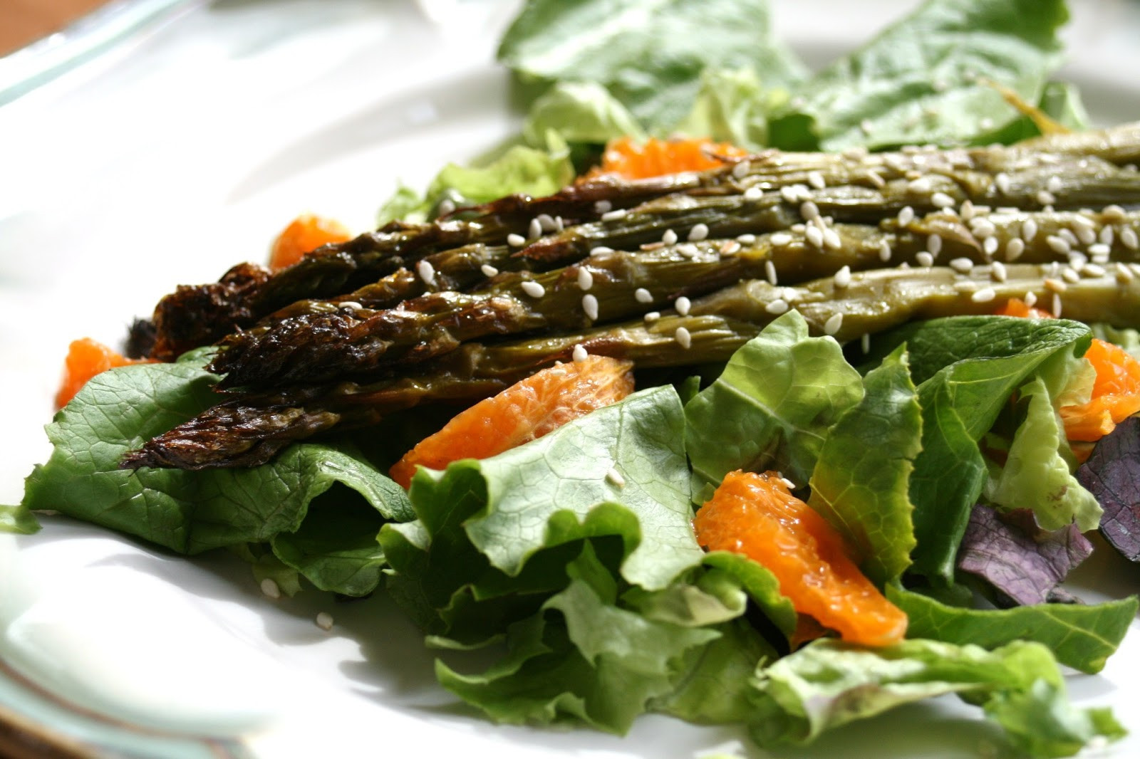 Roasted Asparagus Salad  I Thee Cook Roasted Asparagus Salad With Citrus Dressing