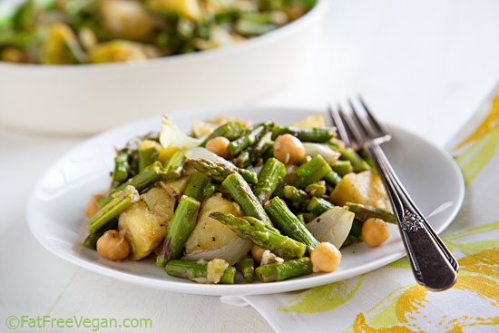 Roasted Asparagus Salad  Roasted Asparagus Salad with Chickpeas and Potatoes