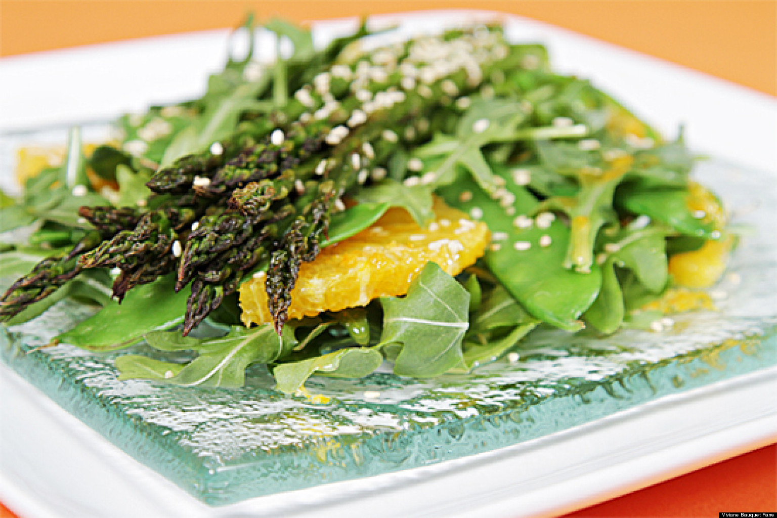 Roasted Asparagus Salad  Roasted Asparagus Salad With Valencia Oranges and Ginger