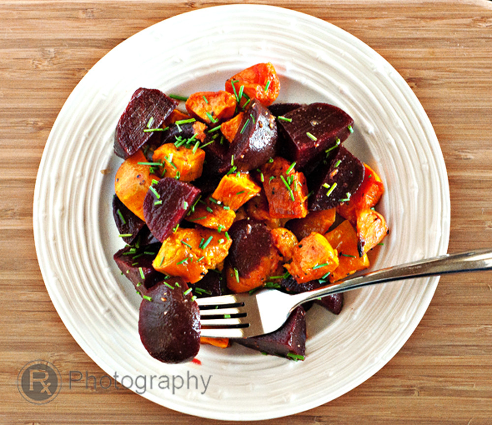 Roasted Beets And Sweet Potatoes  Roasted Sweet Potato and Beets Salad with a Lemon Truffle