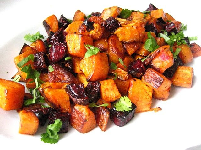 Roasted Beets And Sweet Potatoes  Valentine s Salad Roasted Beets & Sweet Potatoes