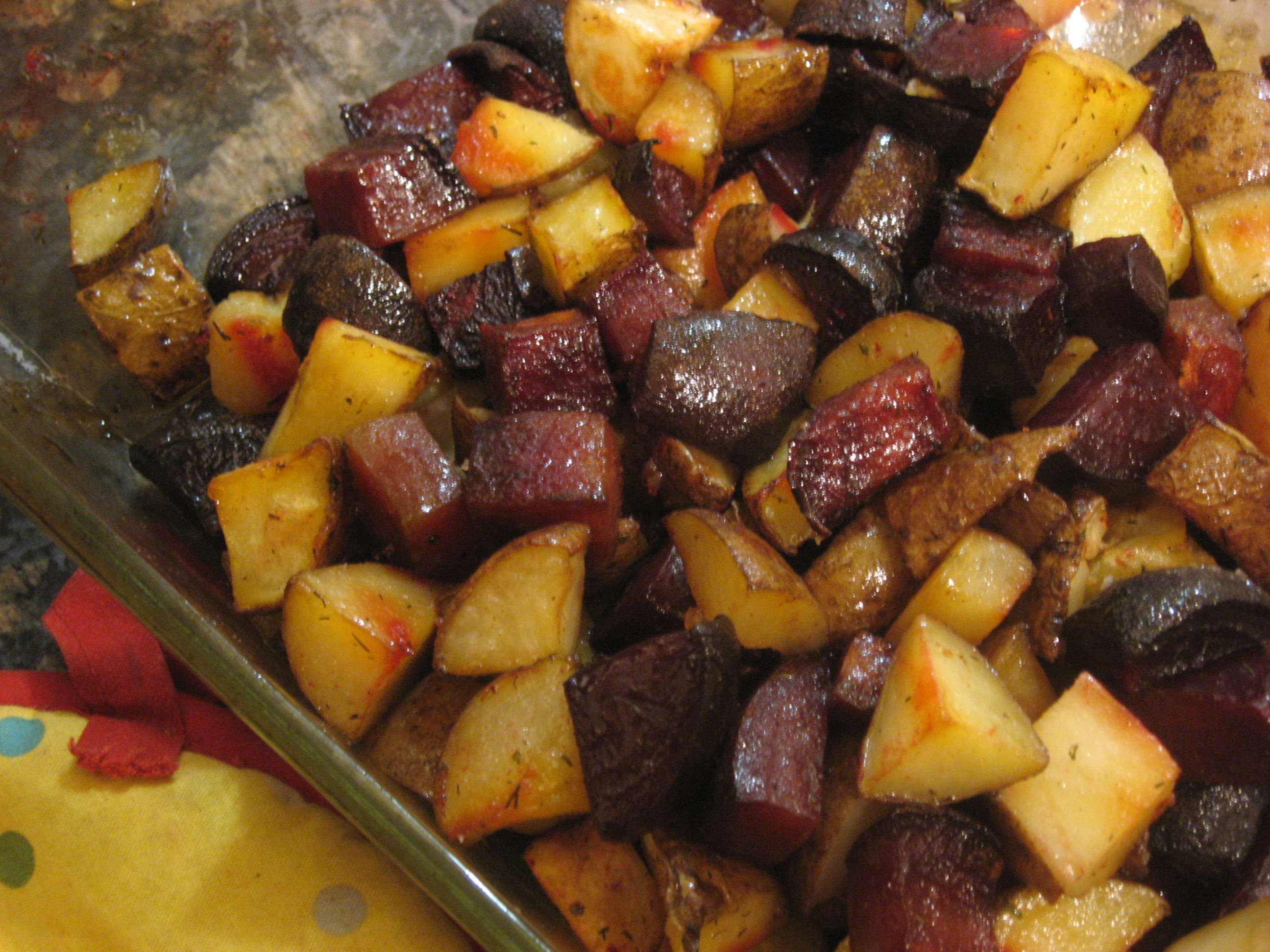 Roasted Beets And Sweet Potatoes  Dill Roasted Beets and Potatoes