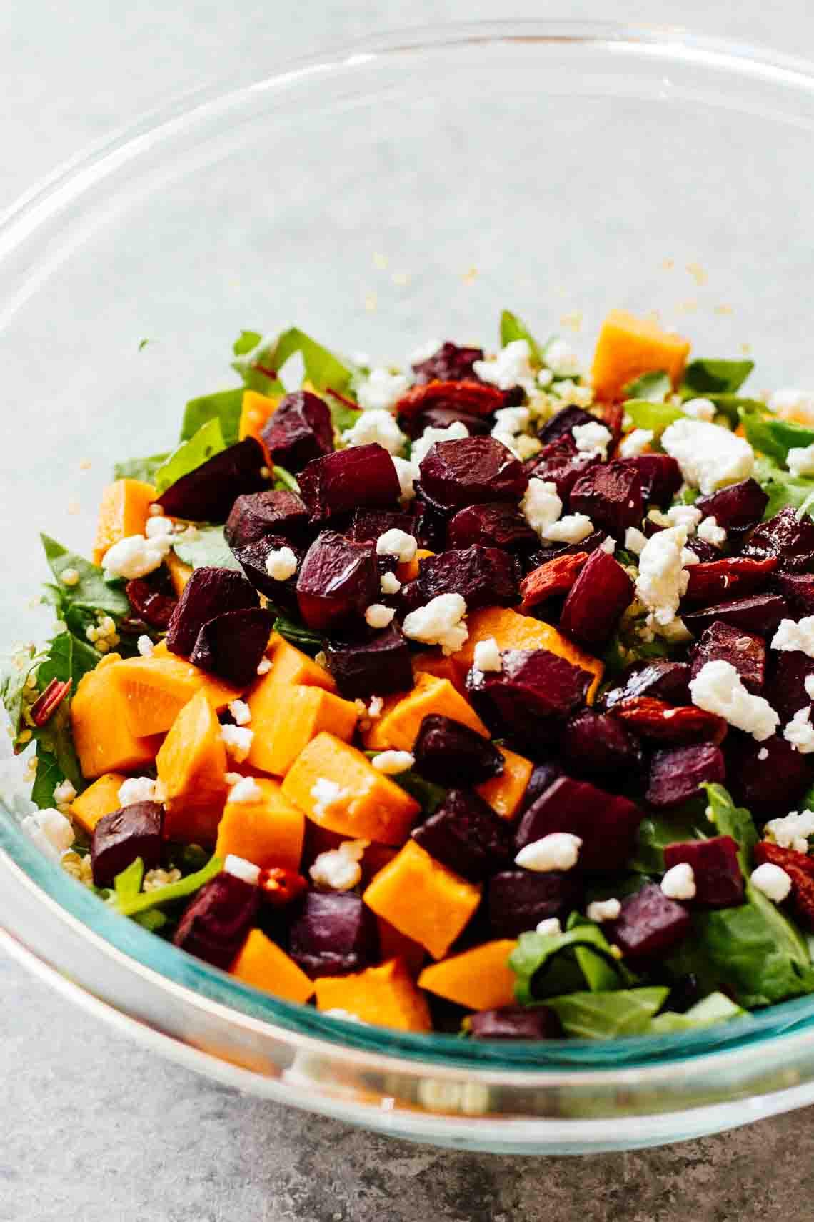 Roasted Beets And Sweet Potatoes  Roasted Beets & Sweet Potato Salad