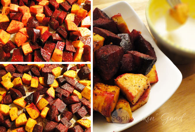 Roasted Beets And Sweet Potatoes  roasted beets and sweet potatoes