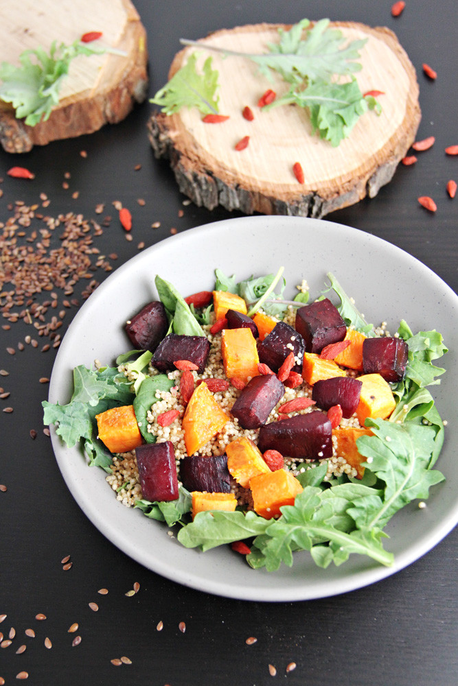 Roasted Beets And Sweet Potatoes  Roasted Beets and Sweet Potato Quinoa Salad