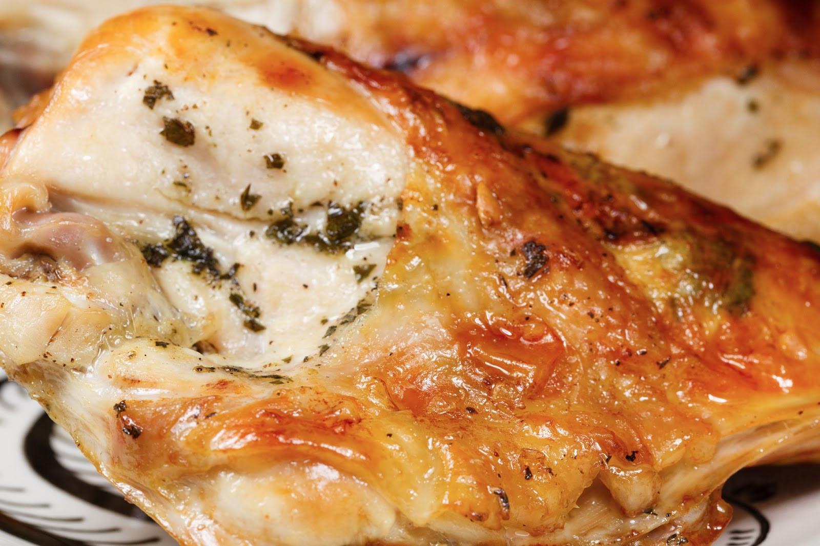 Roasted Bone In Chicken Breast  kruizing with kikukat Toaster Oven Food Roast Chicken