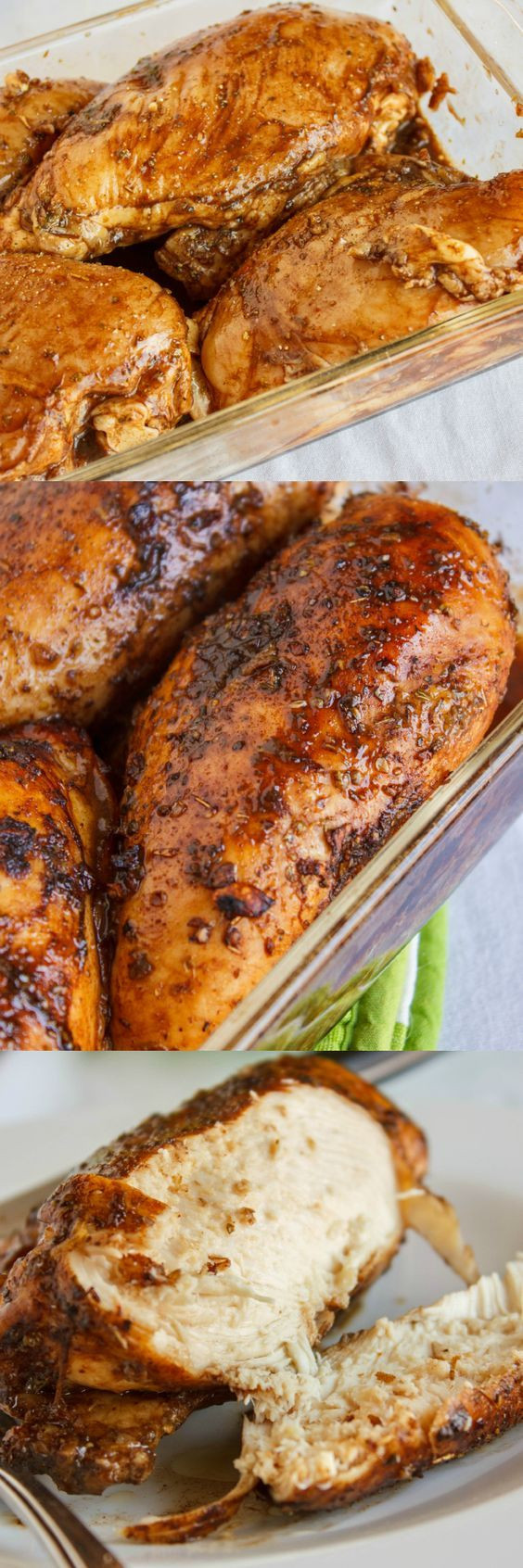 Roasted Boneless Chicken Breast  Baked Balsamic Chicken Recipe