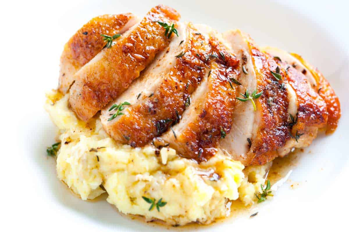 Roasted Boneless Chicken Breast  Easy Pan Roasted Chicken Breasts with Thyme