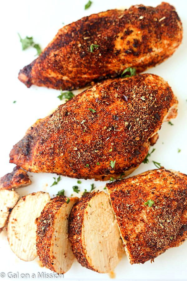 Roasted Boneless Chicken Breast  Baked Cajun Chicken Breasts Gal on a Mission