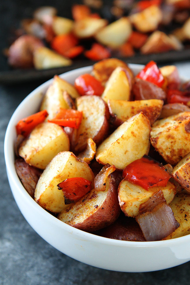 Roasted Breakfast Potatoes  Roasted Breakfast Potatoes So Easy