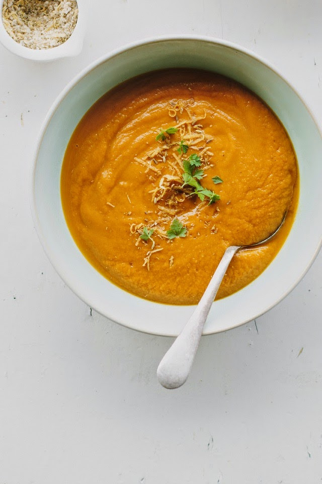 Roasted Carrot Soup  my darling lemon thyme roasted carrot soup with fennel