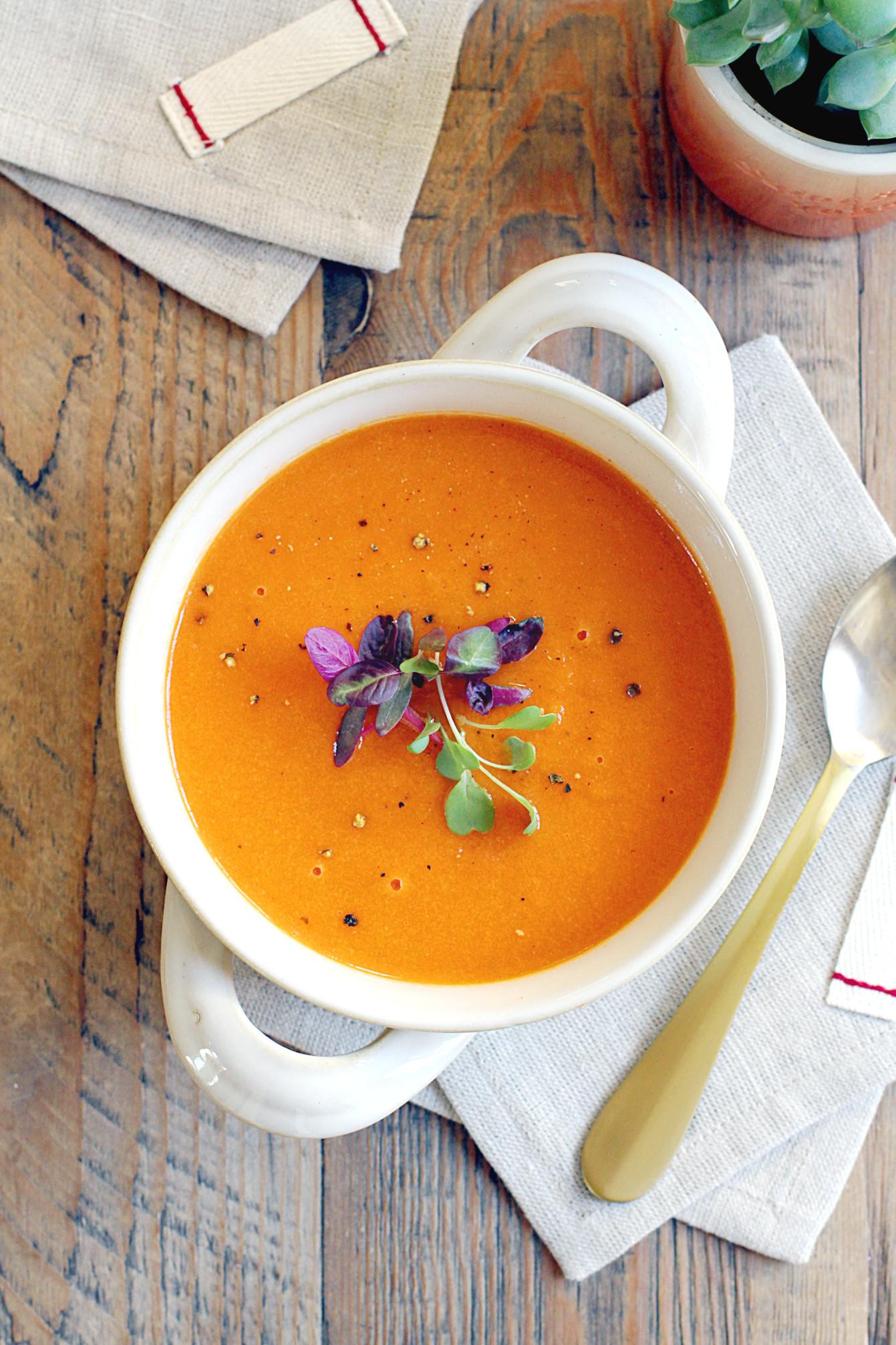Roasted Carrot Soup  Roasted Carrot Soup Two of a Kind