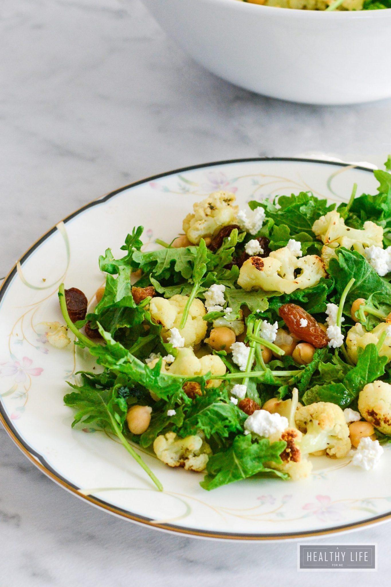 Roasted Cauliflower Salad  Kale and Roasted Cauliflower Salad gluten free