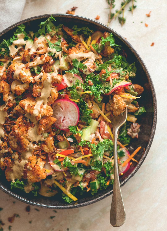 Roasted Cauliflower Salad  Cajun Roasted Cauliflower Salad
