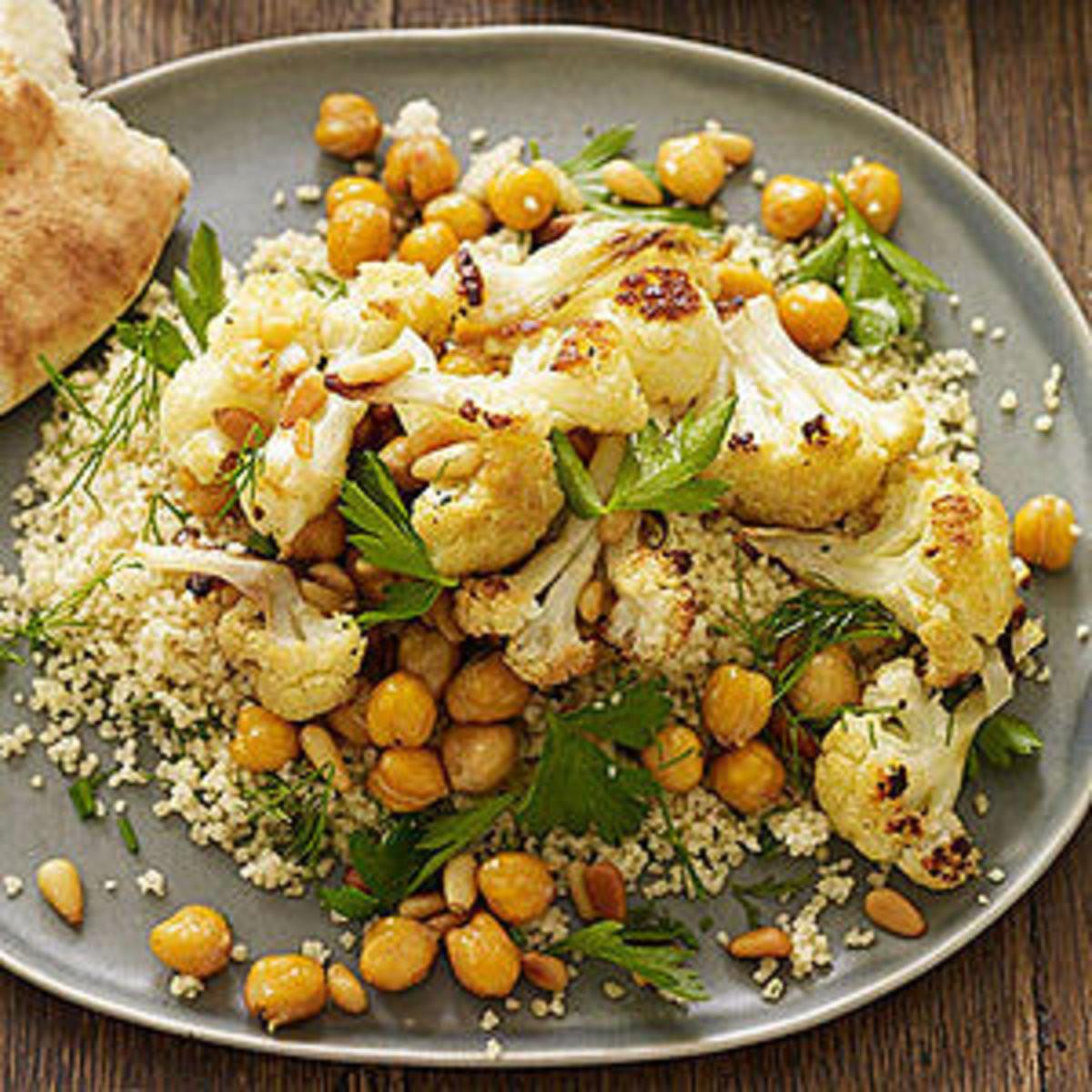 Roasted Cauliflower Salad  roasted cauliflower rachel ray