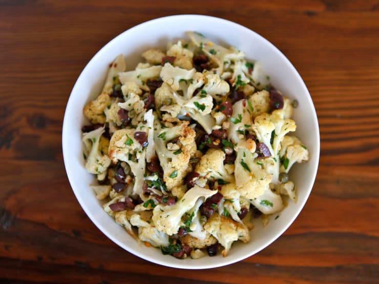 Roasted Cauliflower Salad  Italian Roasted Cauliflower Salad Recipe from Calabria