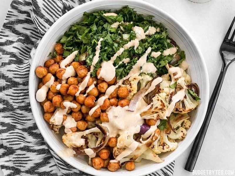 Roasted Cauliflower Salad  Roasted Cauliflower Salad with Lemon Tahini Dressing