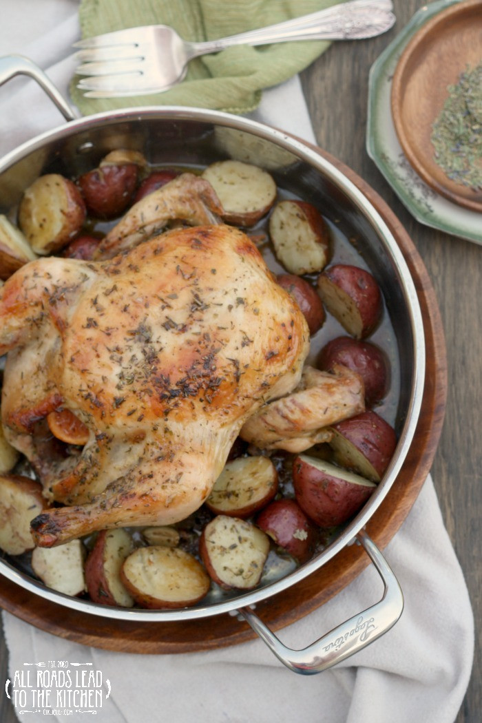 Roasted Chicken And Potatoes  Herbes de Provence Roasted Chicken and Potatoes an
