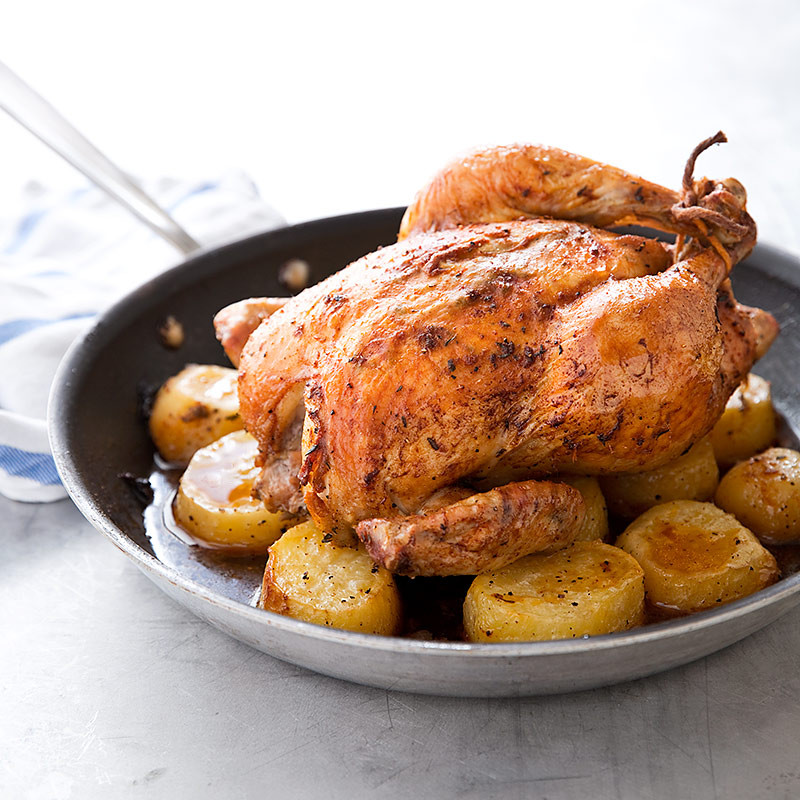 Roasted Chicken And Potatoes  e Pan Roast Chicken and Potatoes