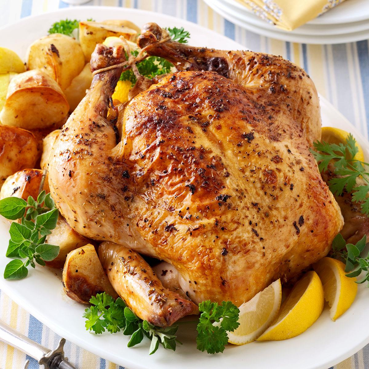 Roasted Chicken And Potatoes  Greek Roasted Chicken and Potatoes Recipe