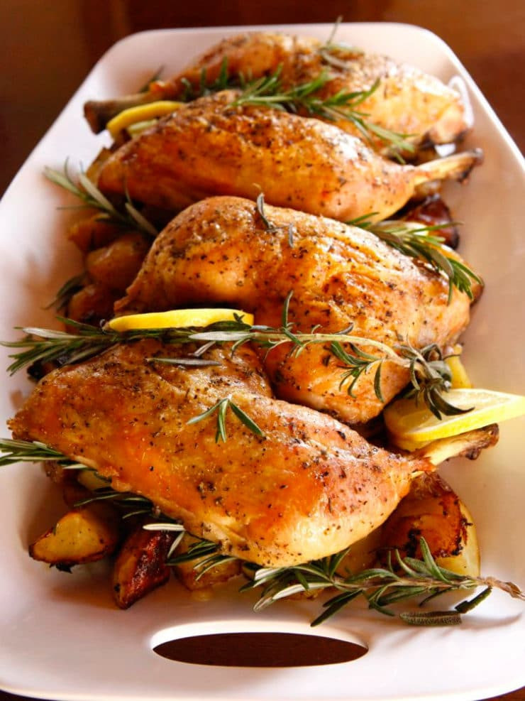 Roasted Chicken And Potatoes  Rosemary Roasted Chicken and Potatoes Healthy Recipe
