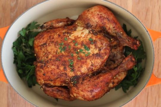 Roasted Chicken Temperature  Slow Roasted Chicken