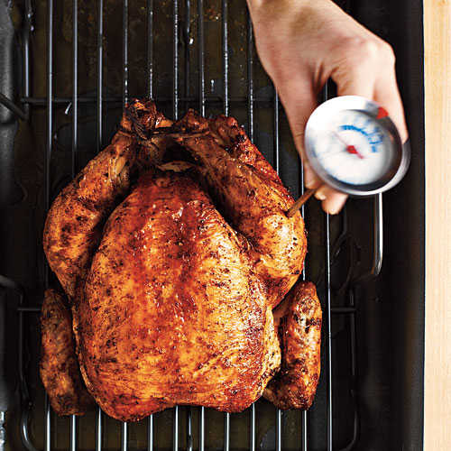 Roasted Chicken Temperature  Temperature Check How To Roast a Whole Chicken Cooking