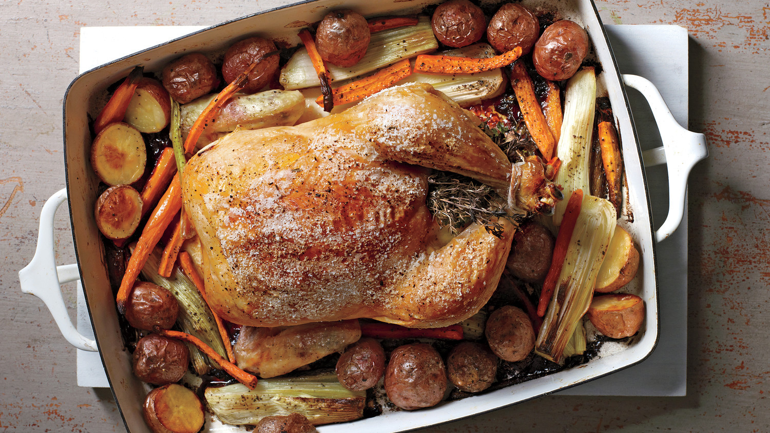 Roasted Chicken Temperature  Herb Roasted Chicken and Ve ables