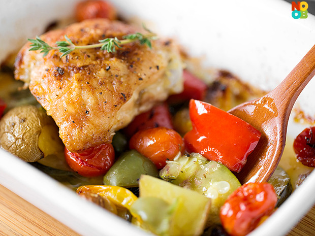 Roasted Chicken Thighs And Vegetables  Roasted Chicken Thighs & Ve ables Recipe