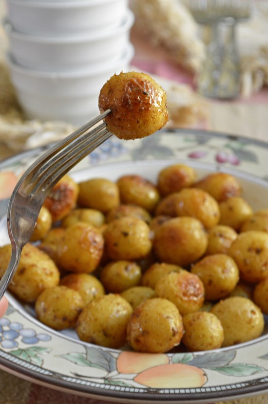 Roasted Gold Potatoes  Roasted California Baby Gold Potatoes Breezy Bakes