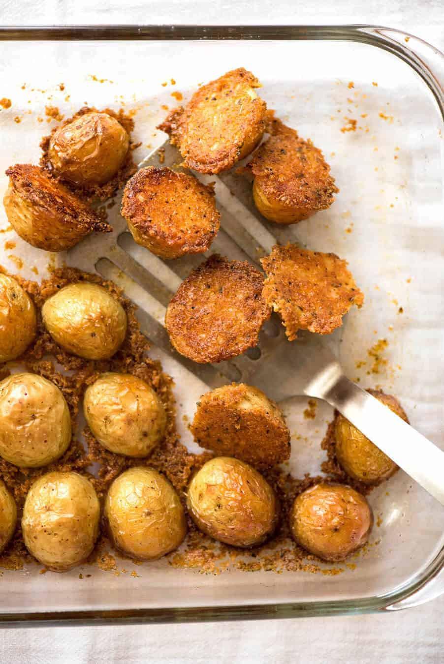 Roasted Parmesan Potatoes  Crispy Roasted Parmesan Potatoes