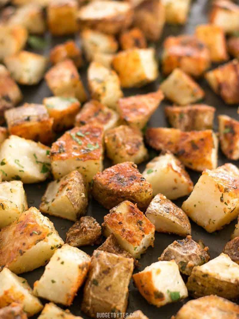 Roasted Parmesan Potatoes  Parmesan Roasted Potatoes Bud Bytes
