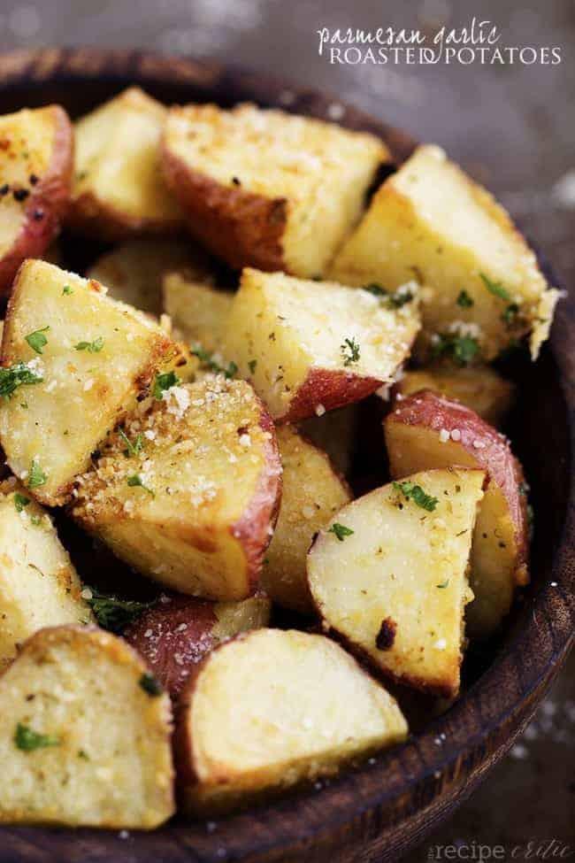 Roasted Parmesan Potatoes  Parmesan Garlic Roasted Potatoes