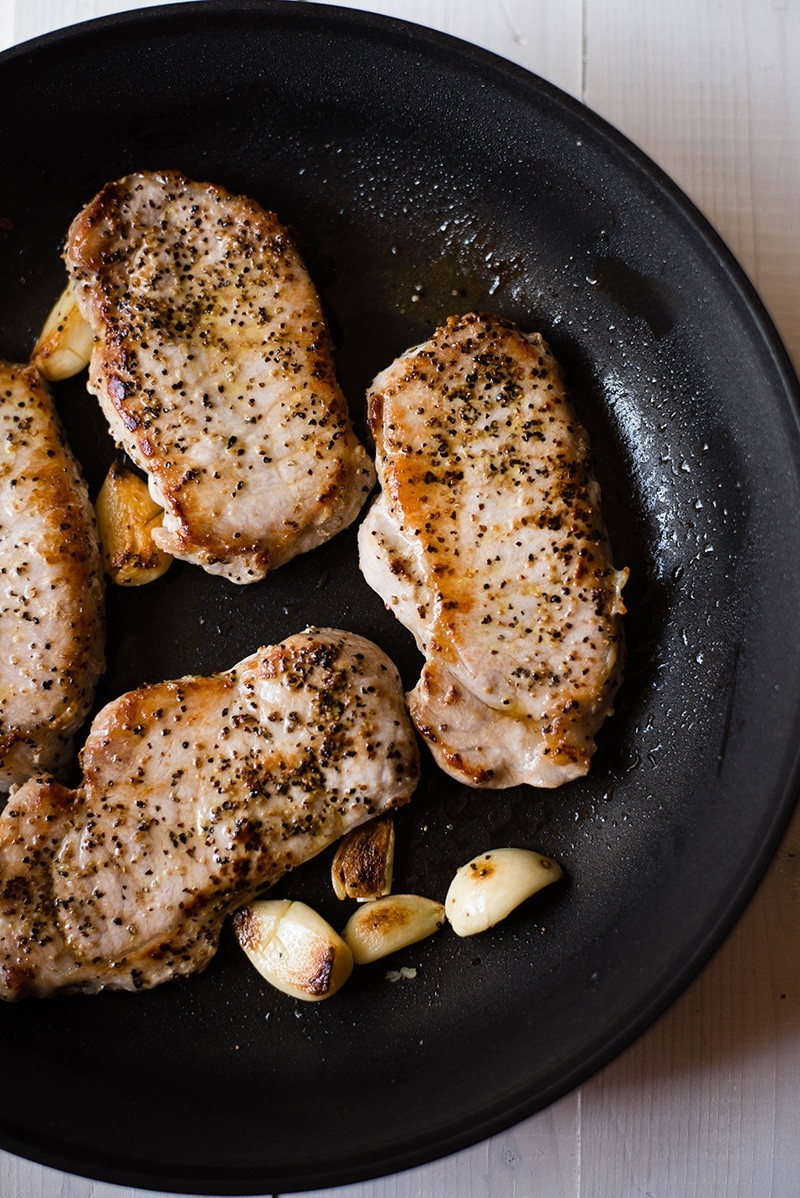 Roasted Pork Chops  Garlic Roasted Pork Chops • A Sweet Pea Chef