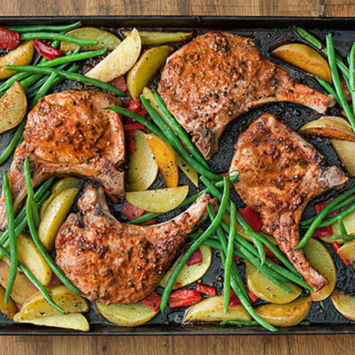 Roasted Pork Chops  Ingenious 30 Minute Meals Rachael Ray Every Day