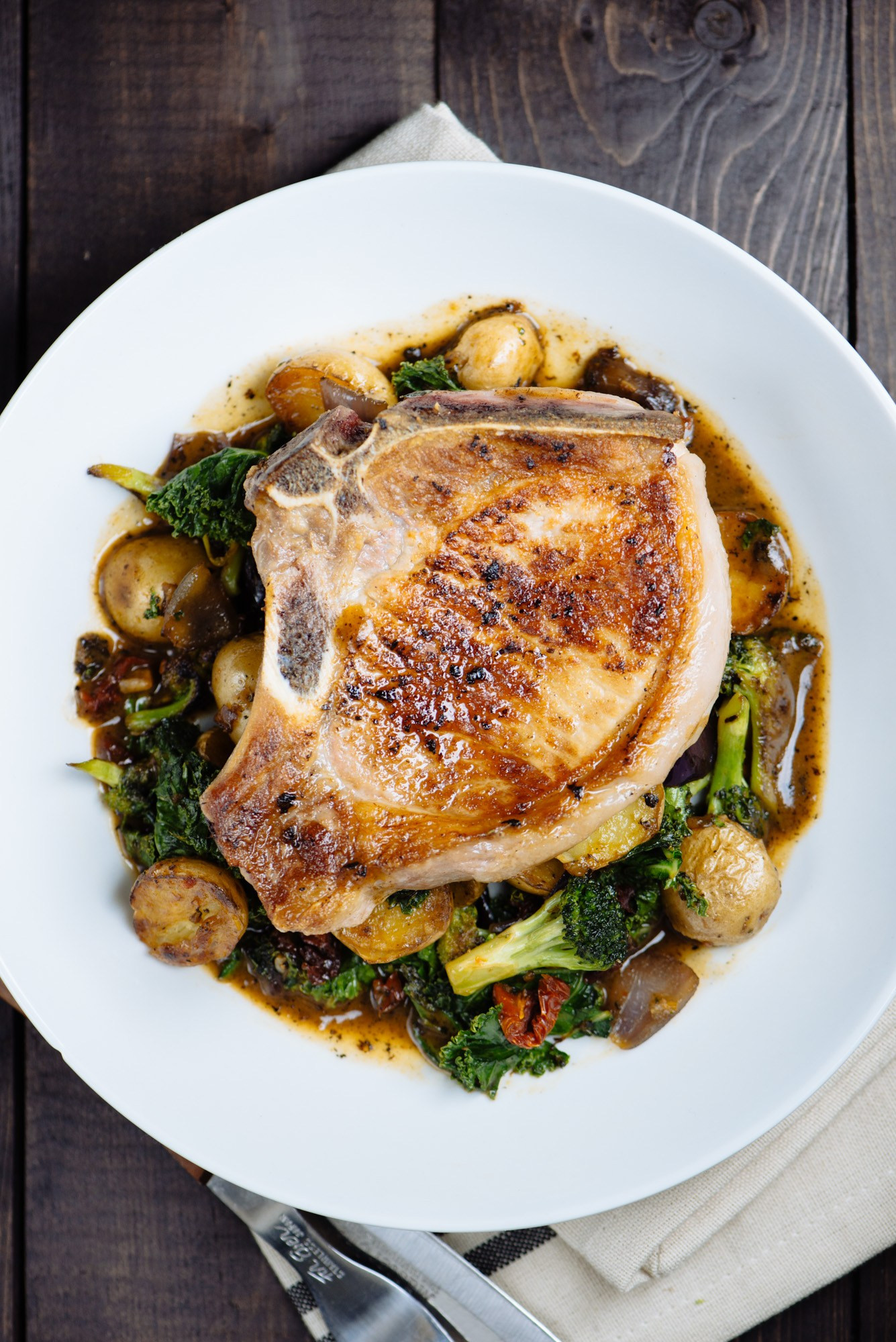 Roasted Pork Chops  Pan Roasted Pork Chops Recipe — Dishmaps