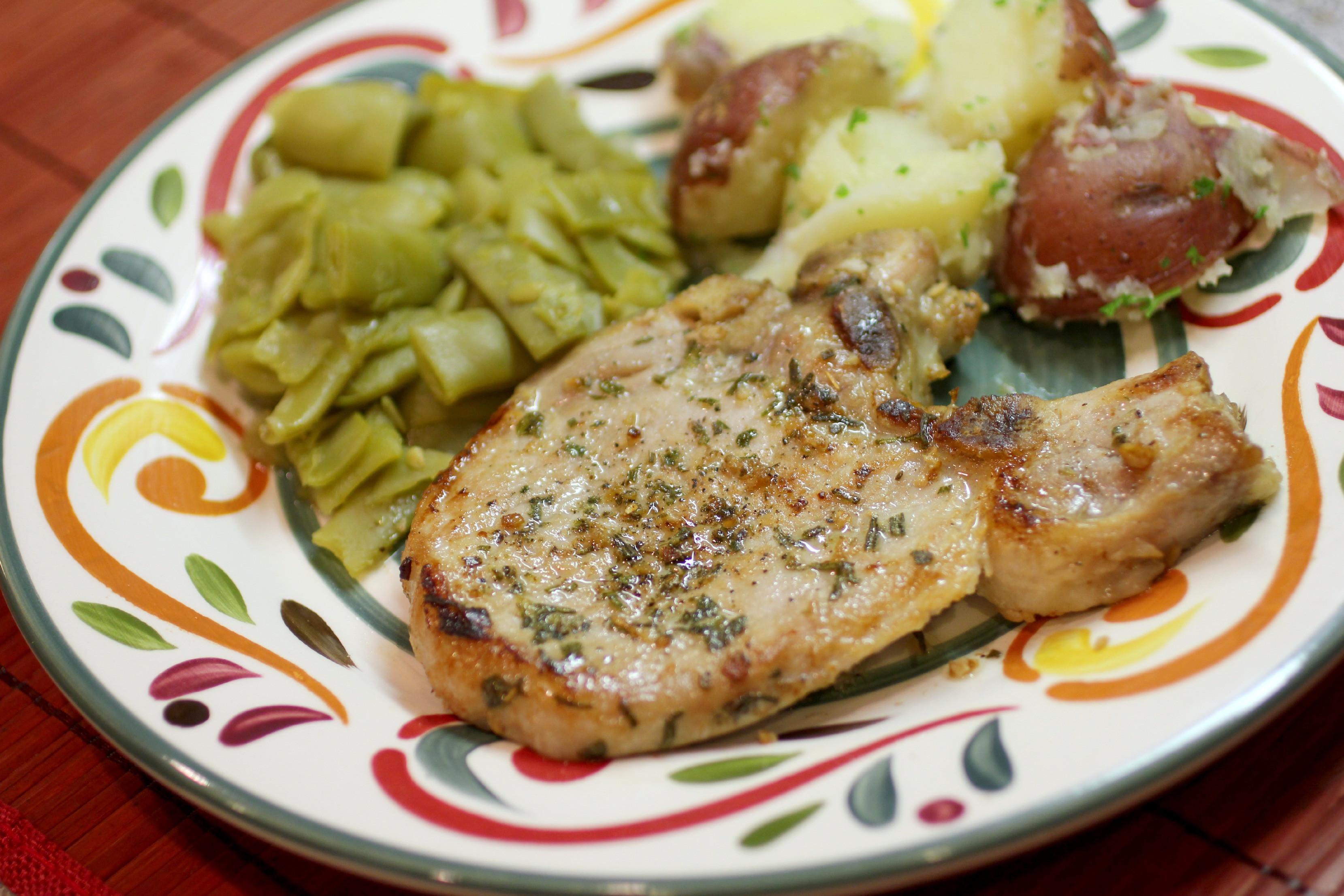Roasted Pork Chops  Tuscan Herb Roasted Pork Chops