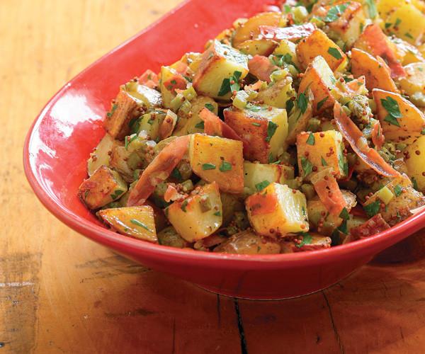 Roasted Potato Salad  Roasted Potato Salad with Crispy Prosciutto & Mustard