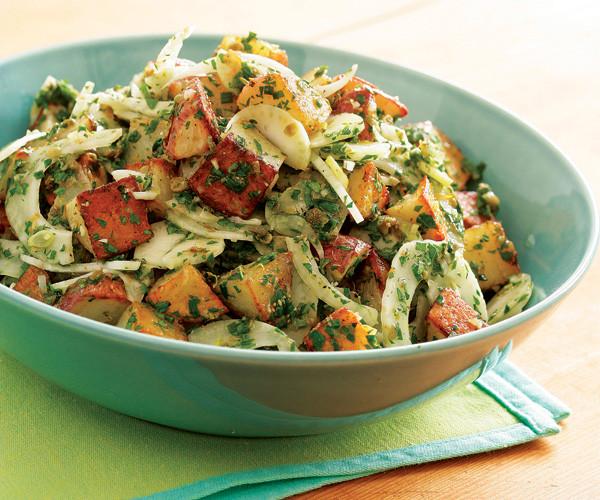 Roasted Potato Salad  Roasted Potato Salad with Shaved Fennel & Salsa Verde