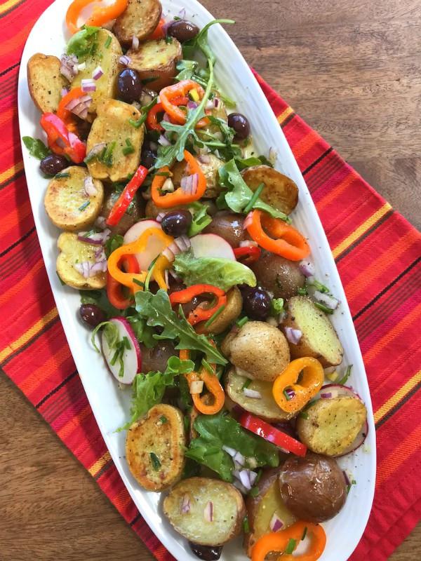 Roasted Potato Salad  Party Worthy Roasted Potato Salad Proud Italian Cook