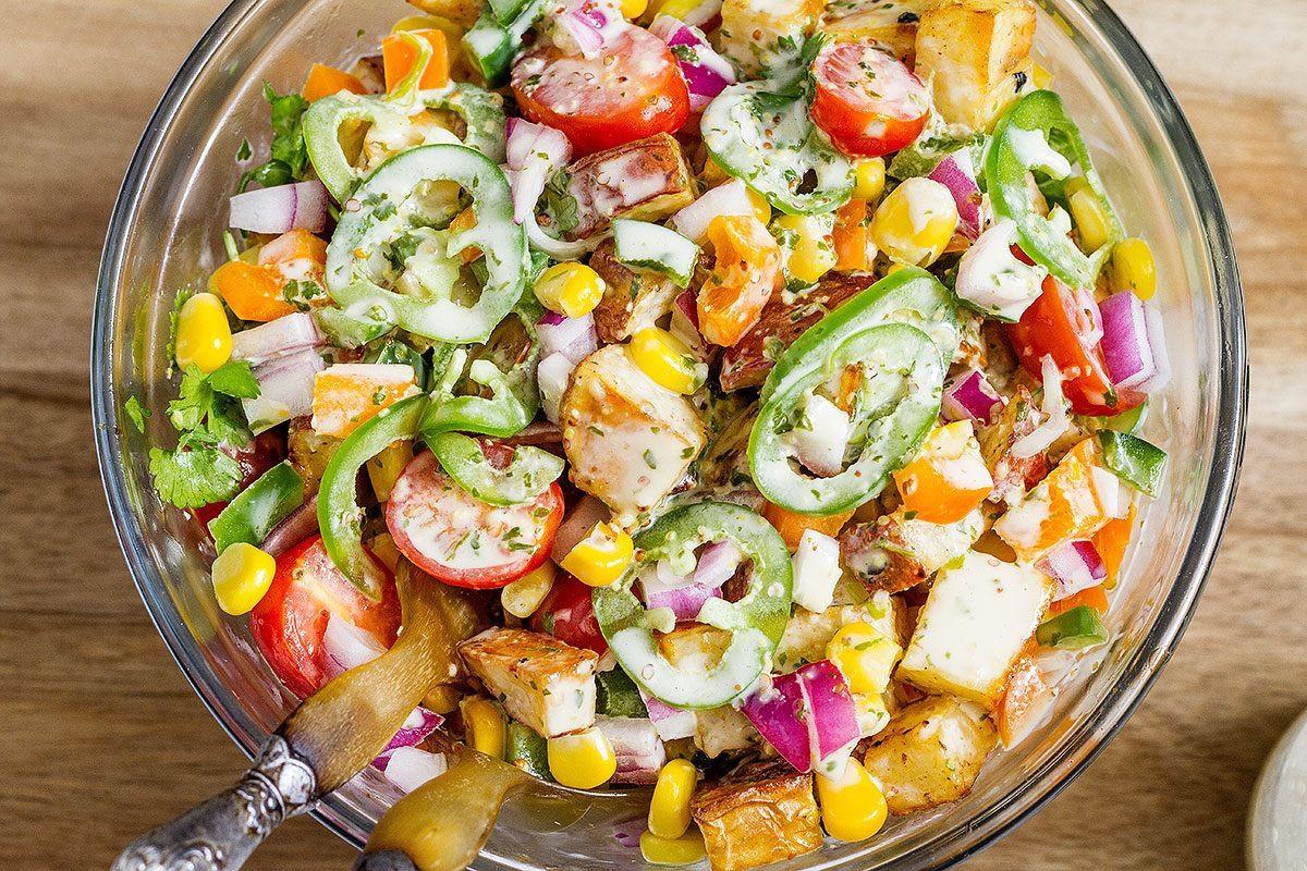 Roasted Potato Salad  Roasted Potato Salad Recipe — Eatwell101