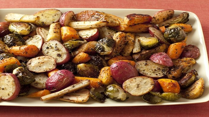 Roasted Potatoes And Brussel Sprouts  Roasted Potatoes Carrots Parsnips and Brussels Sprouts