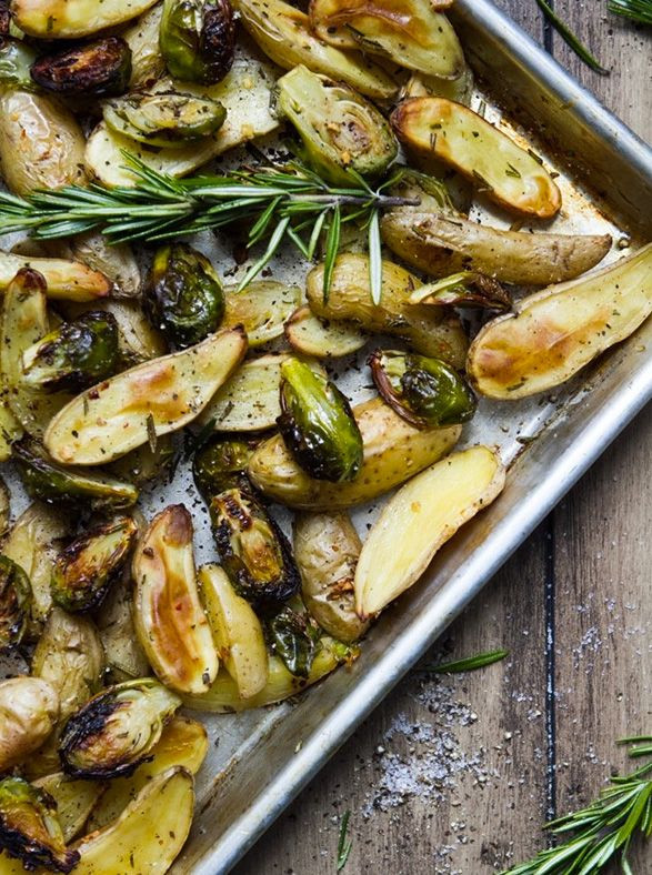 Roasted Potatoes And Brussel Sprouts  13 Easy Healthy Recipes for Brussels Sprouts