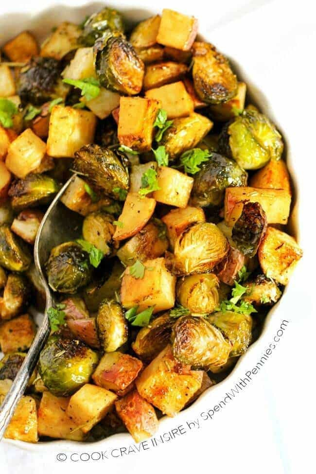 Roasted Potatoes And Brussel Sprouts  Roasted Potatoes and Brussels Sprouts