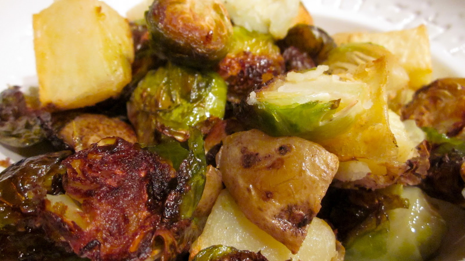 Roasted Potatoes And Brussel Sprouts  What s for dinner Roasted potatoes and Brussels sprouts