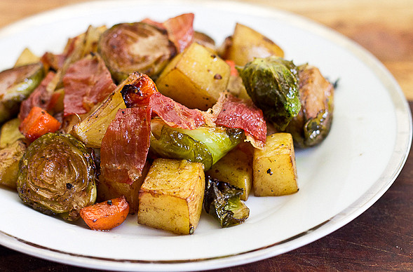Roasted Potatoes And Brussel Sprouts  Roasted Brussels Sprouts and Potatoes A Quick e Pot