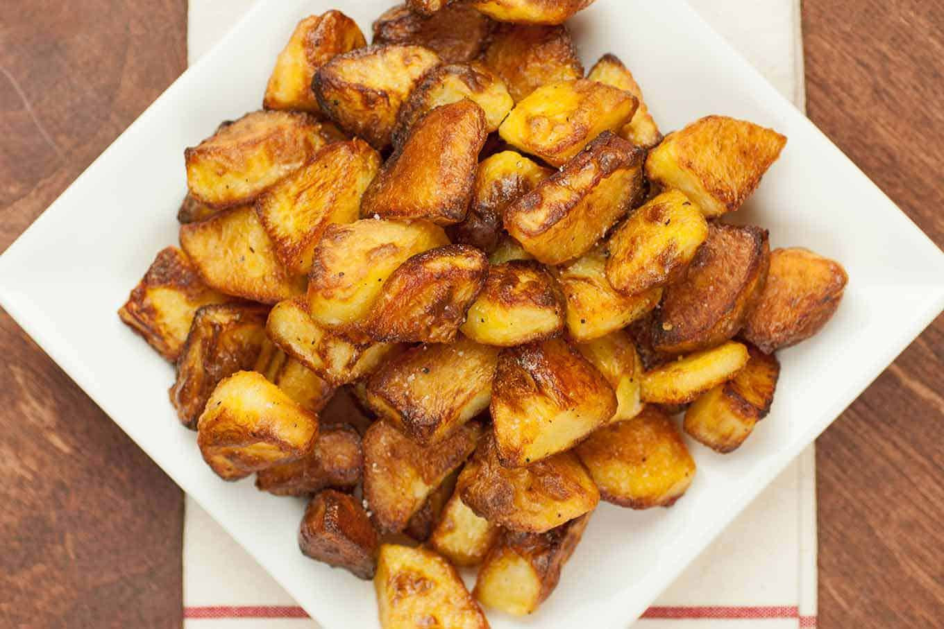 Roasted Potatoes In The Oven  Our Best Oven Roasted Potatoes Recipe
