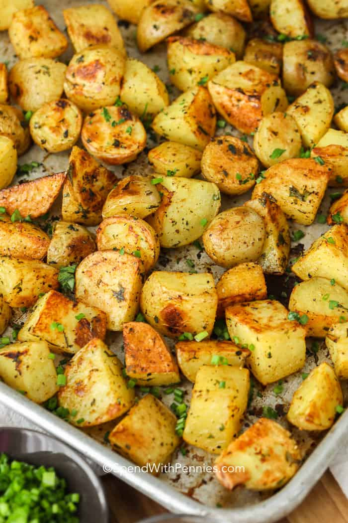Roasted Potatoes In The Oven  Oven Roasted Potatoes Perfect Side Dish  Spend with