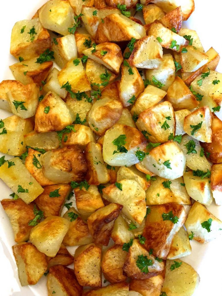 Roasted Potatoes In The Oven  Easy Oven Roasted Potatoes Recipe – Best Ever – Melanie Cooks