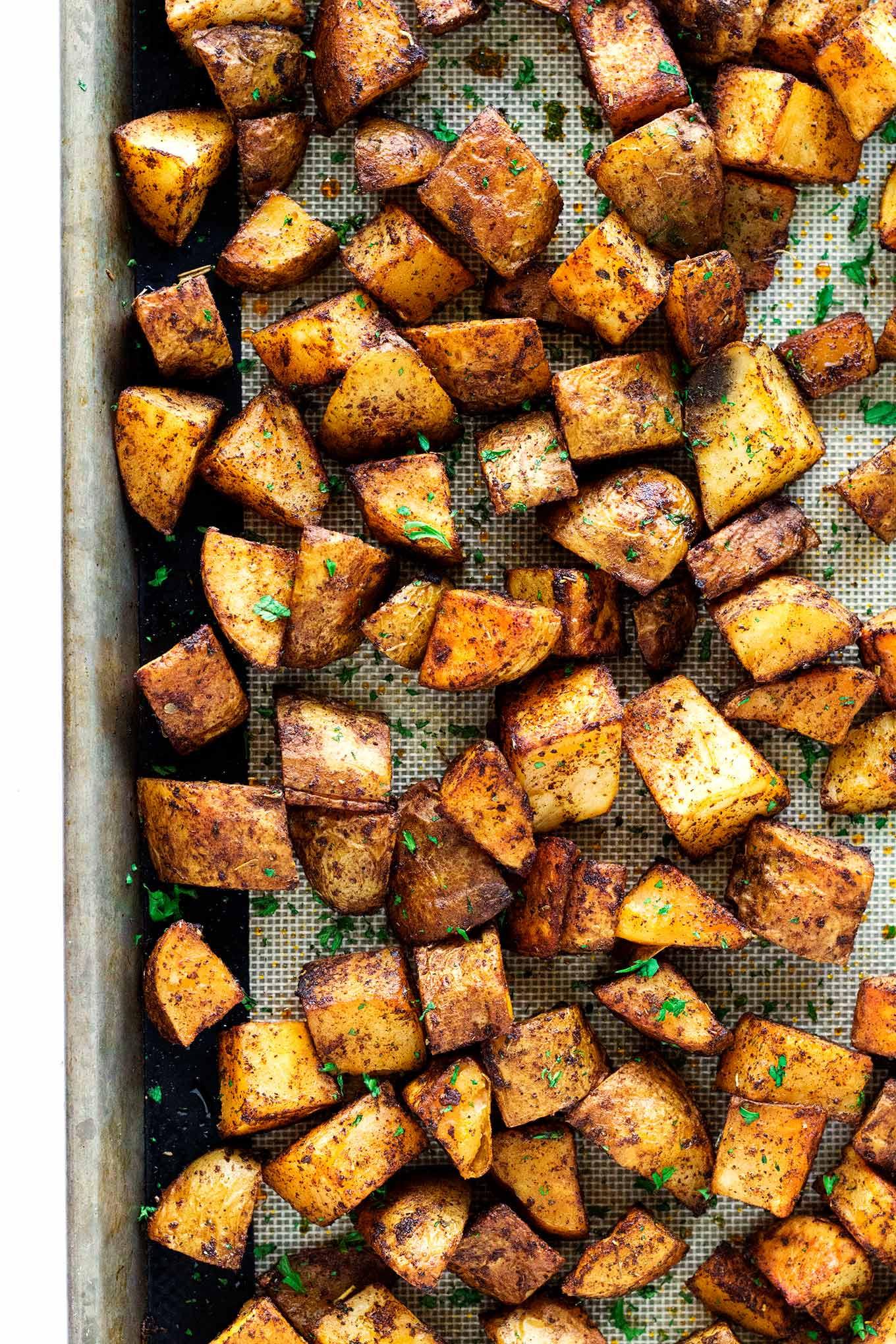 Roasted Russet Potatoes  Roasted Russet Potatoes • So Damn Delish